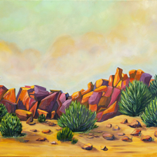 """Cerrillos Sunrise"" 24""x30"" Oil on Canvas title="