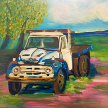 """Taos Truck""  SOLD. Oil on canvas. title="