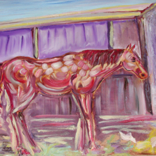 """Painted Pony"" Painted in Taos New Mexico. Oil on Canvas. Missing from Glastonbury CT title="
