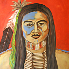 """David"" Taos, New Mexico. 2008 Large missing painting from Santa Fe NewMexico. title="